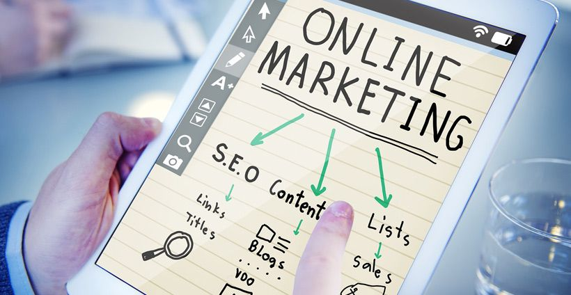 Online-Marketing-Strategien auf Tablet